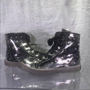 Girls Primigi Hi-Top Sneakers - Size 29 EU/US 11.5